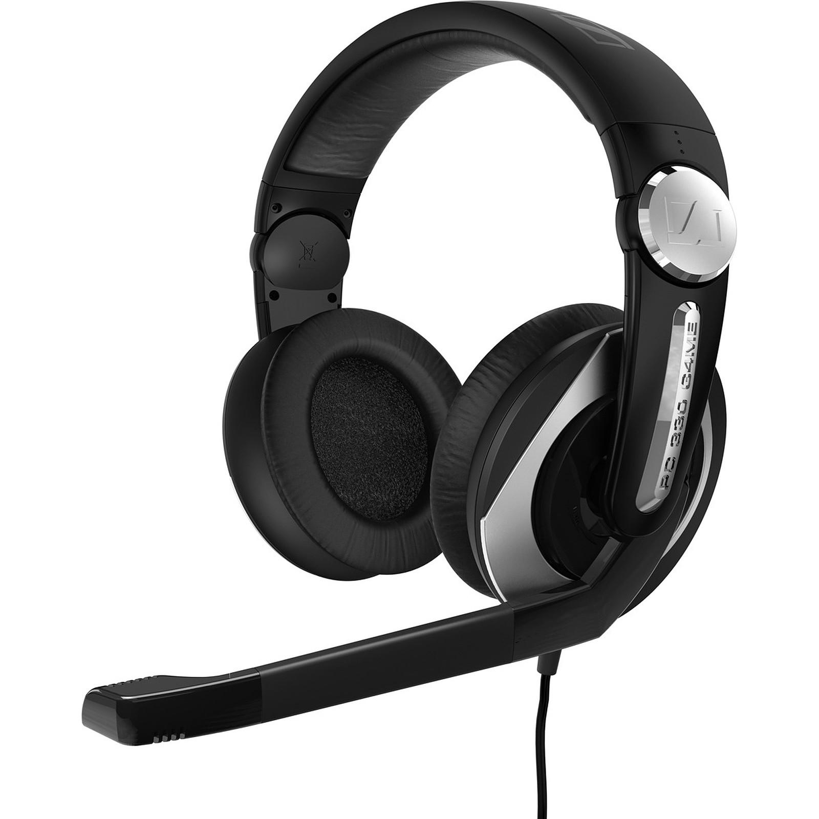 micro- casque gaming pc 330 – noir