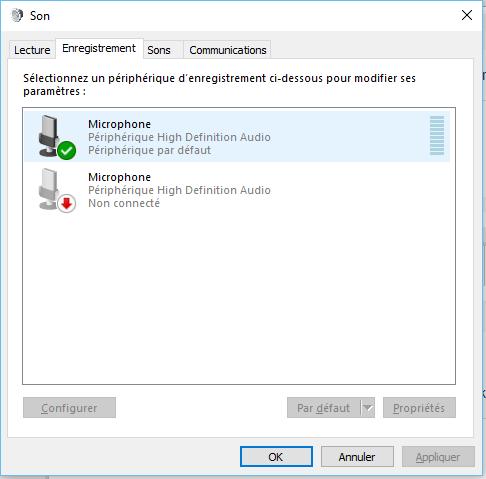 micro casque non detecte windows 10