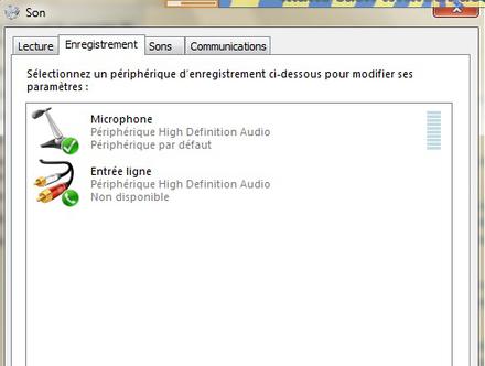 micro casque non detecte windows 7