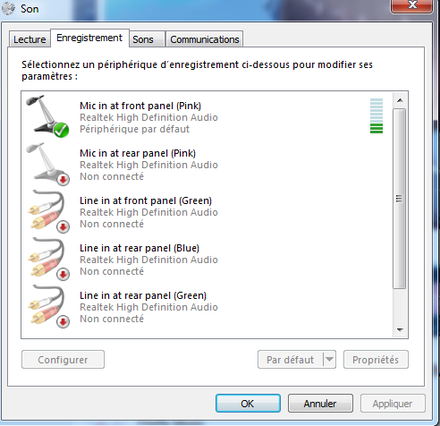 micro casque non detecte windows 8