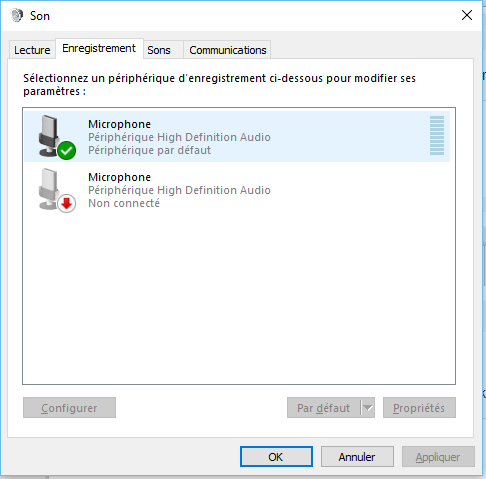 micro casque non reconnu windows 7