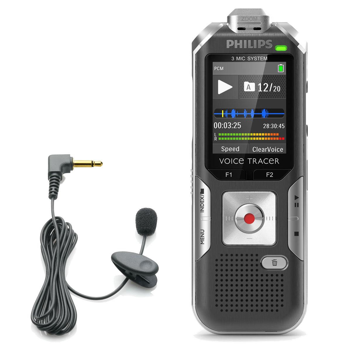 micro cravate dictaphone philips