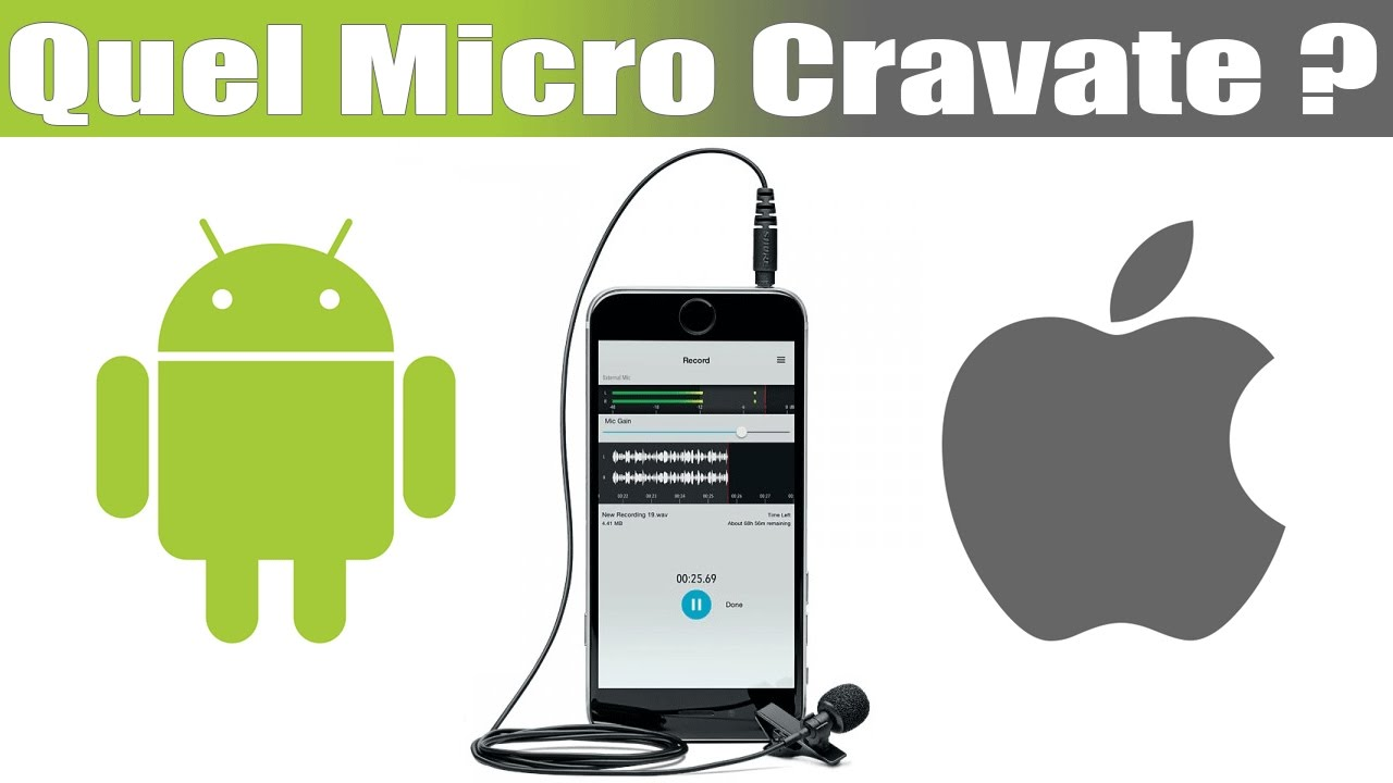 micro cravate pour android