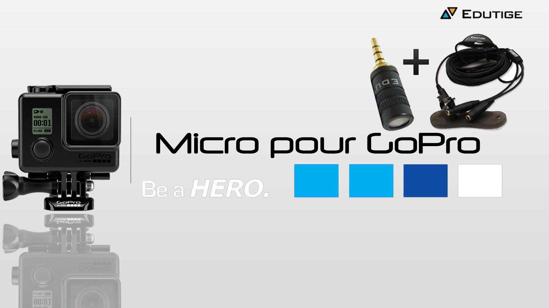 micro cravate pour gopro hero 5