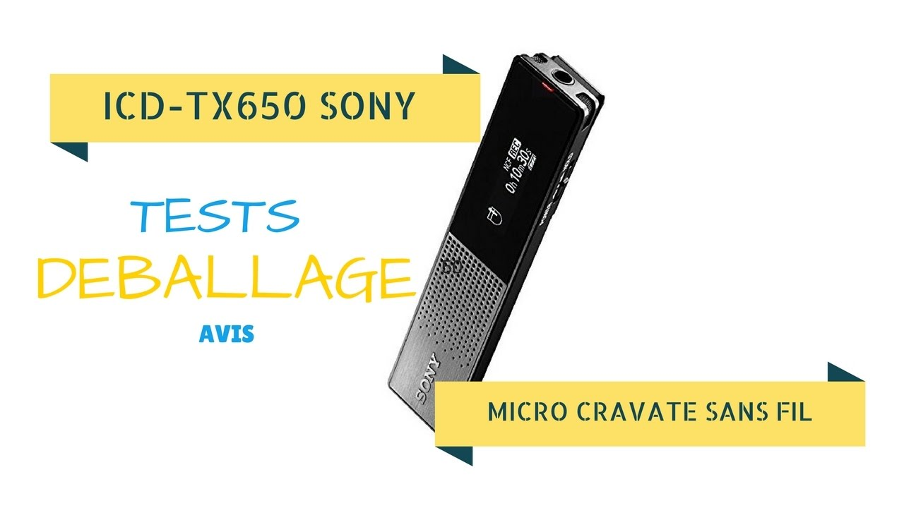 micro cravate sans fil sony