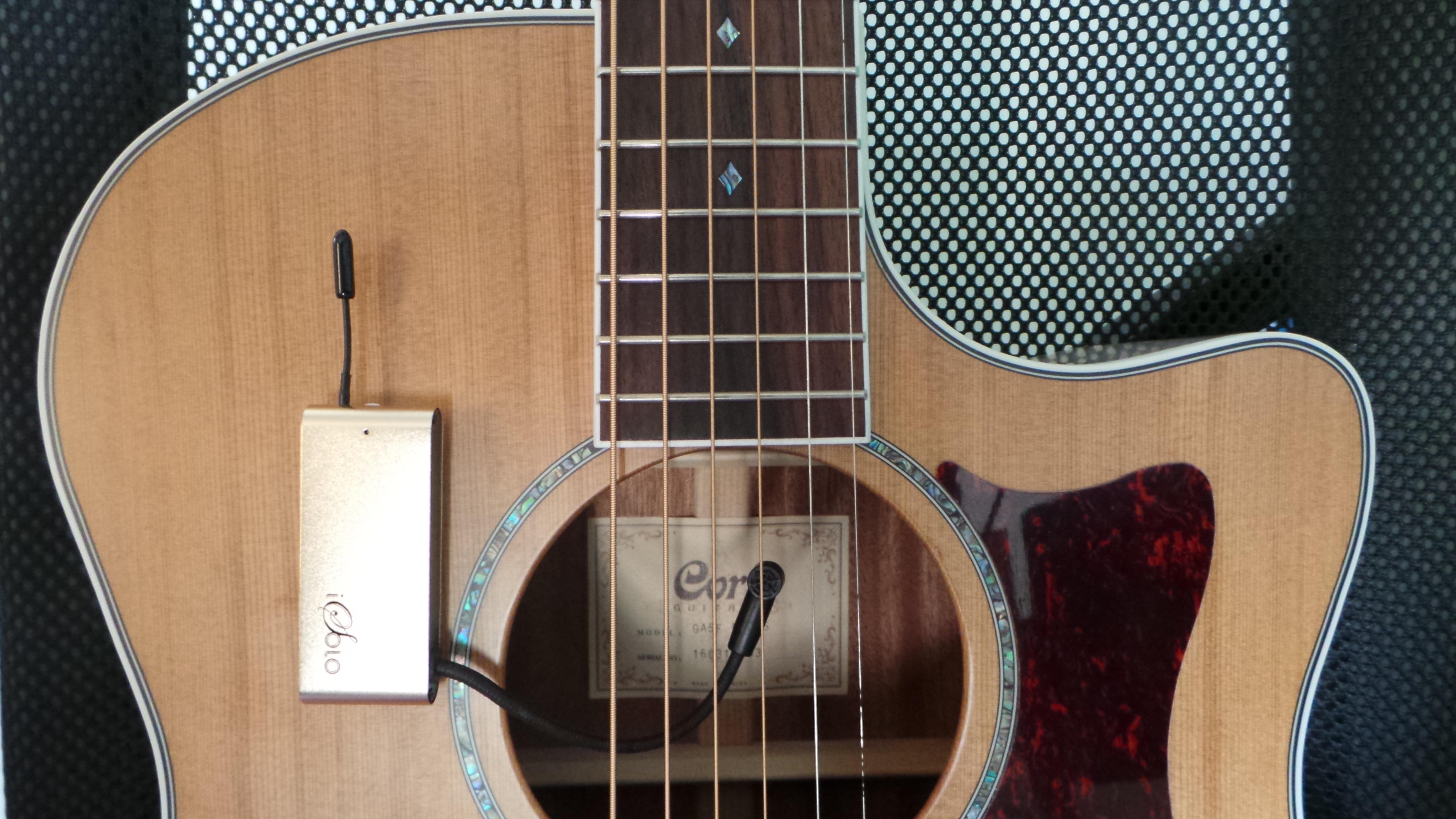 micro guitare acoustique bluetooth