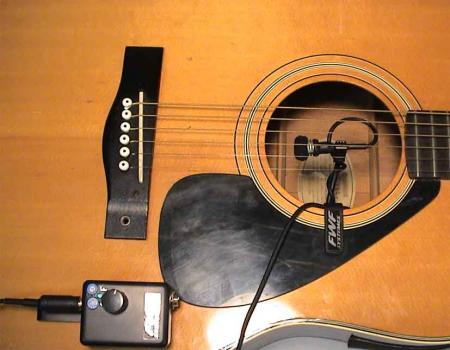 micro guitare acoustique nylon