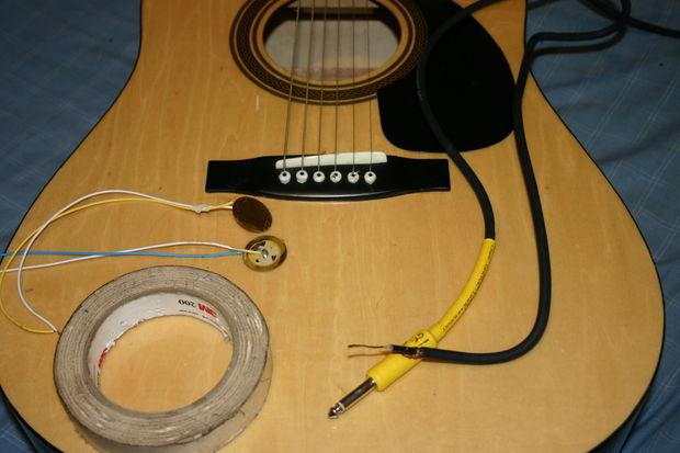micro guitare acoustique piezo