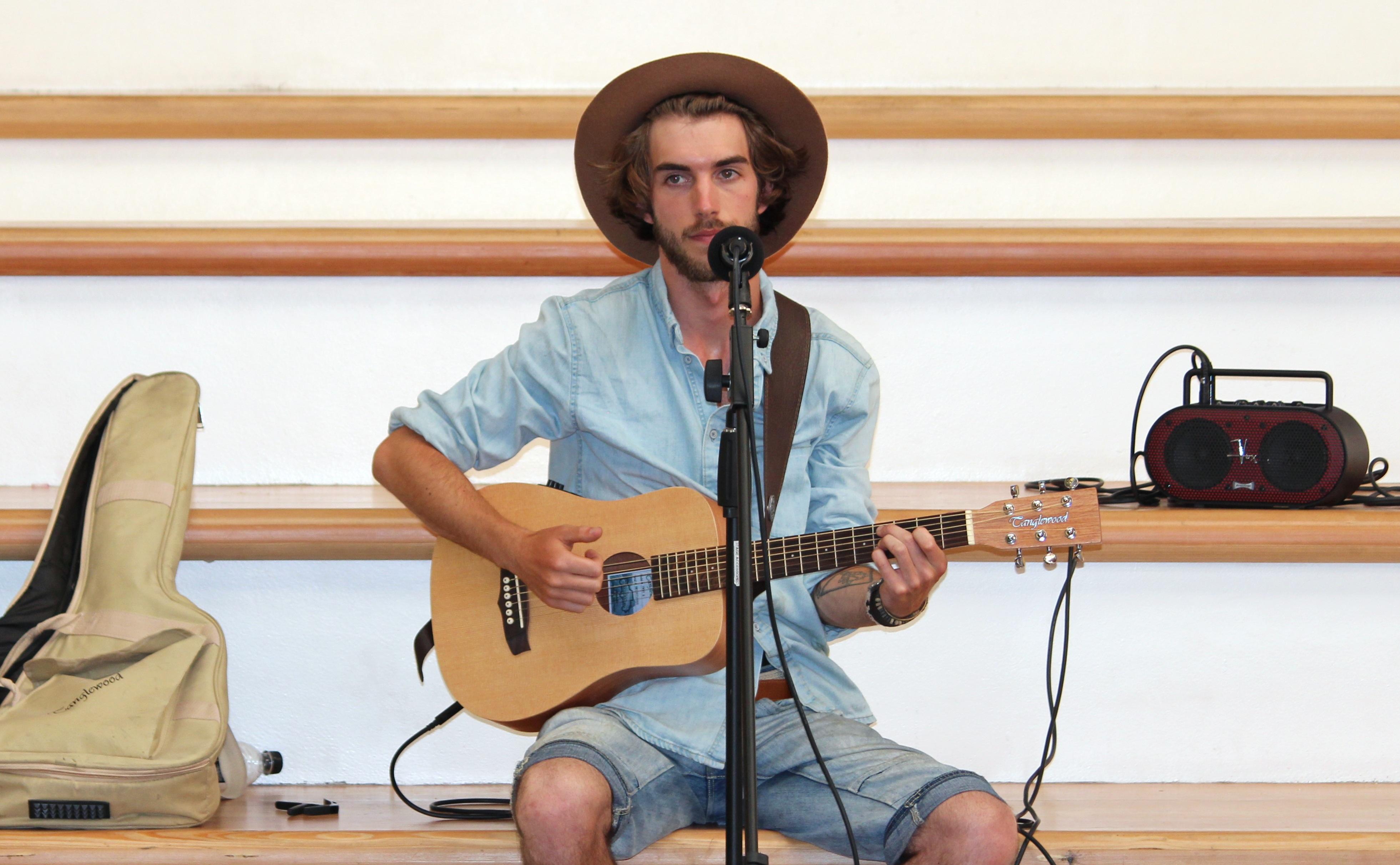micro guitare chant