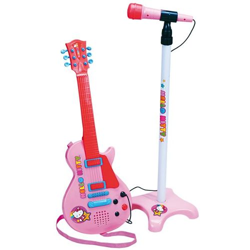 micro guitare hello kitty