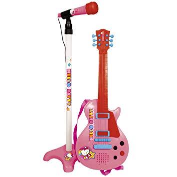 micro guitare hello kitty