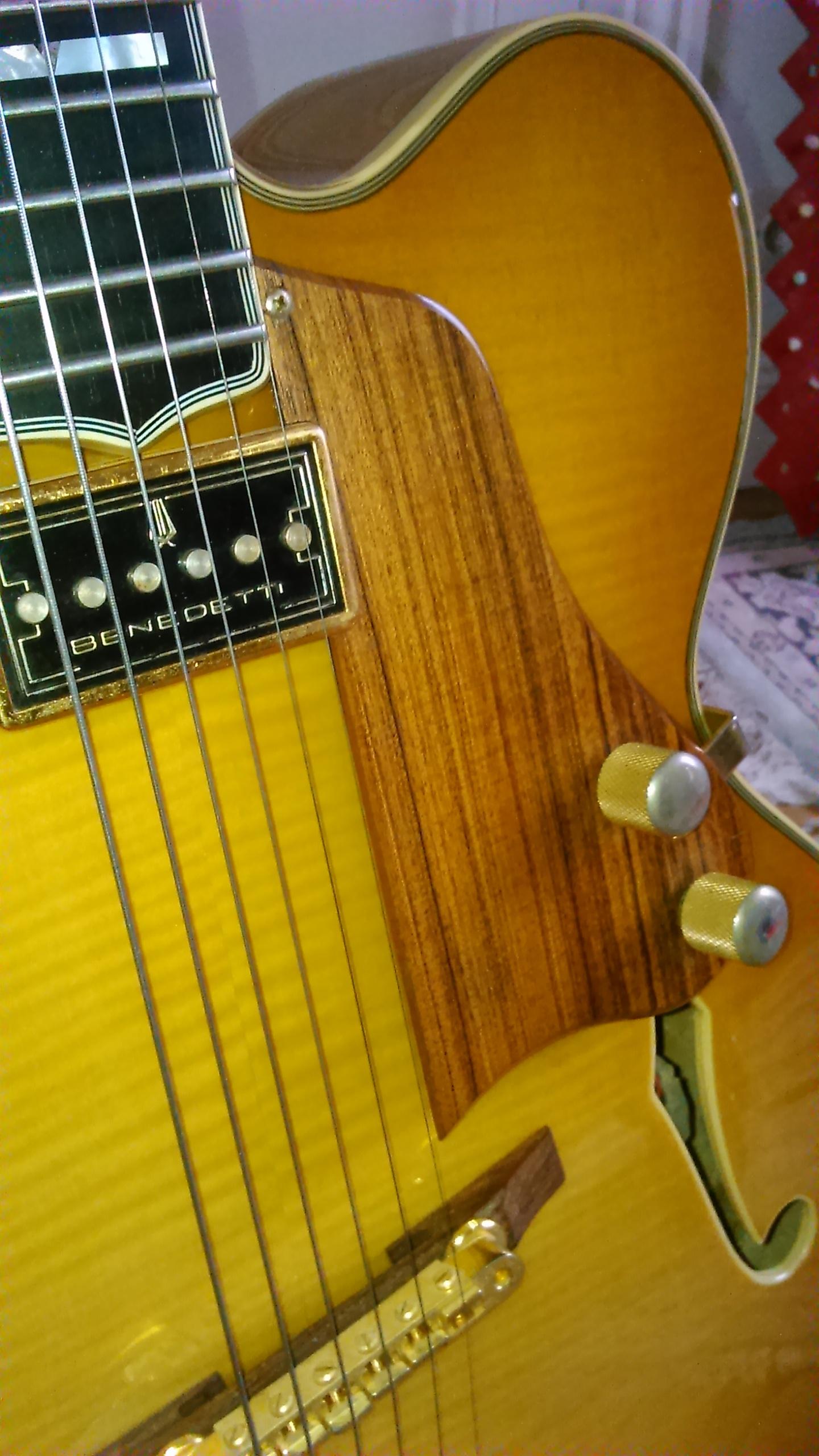 micro guitare jazz flottant