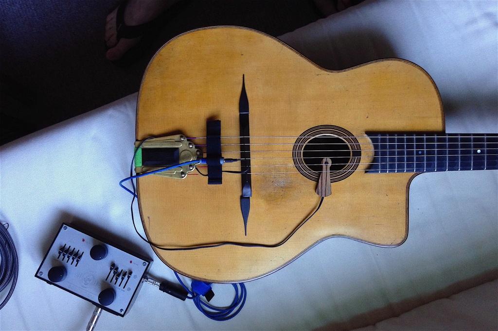 micro guitare manouche grande bouche