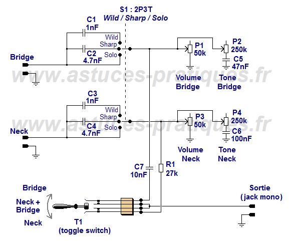 micro guitare parallele ou serie
