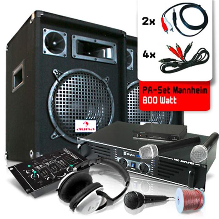 micro sans fil et ampli