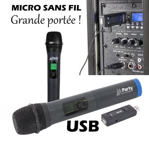 micro sans fil portee 200m